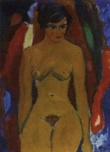 Ruurd Elzer-A seated nude-1959