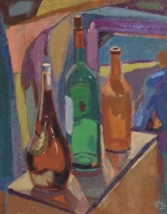 Ruurd Elzer-A still life with bottles-1952-59